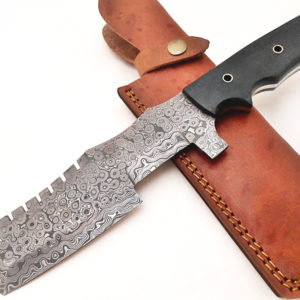 Super Cutlery Handmade Damascus Knife (Tracker) Macarta Handle