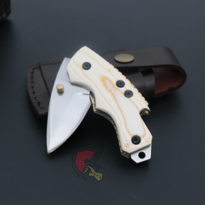 D2 custom made pocket knife