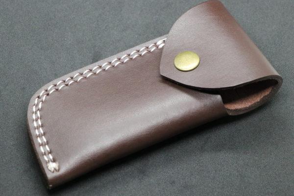 Genuine Brown Handmade Cow Leather Sheath, Folding knives pocket knives
