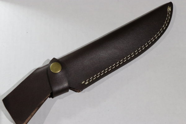 Handmade Cow leather Sheath, skinner knives Camping knife brown