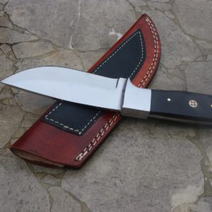 handmade D2 steel camping skinner knife wenge wood