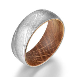Men Damascus wedding Dome band