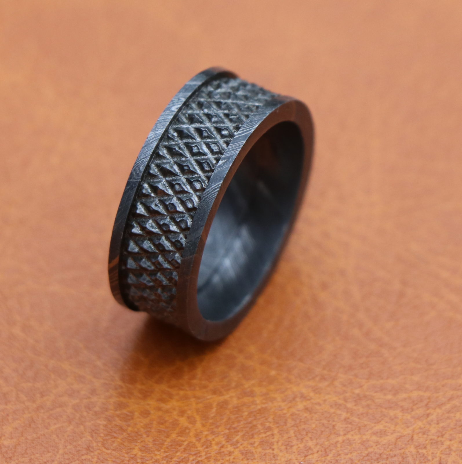 mens com wedding band titanium manworksdesign in benchmark infinity beautiful black bands