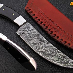 "9"" hand forged Damascus steel knife"