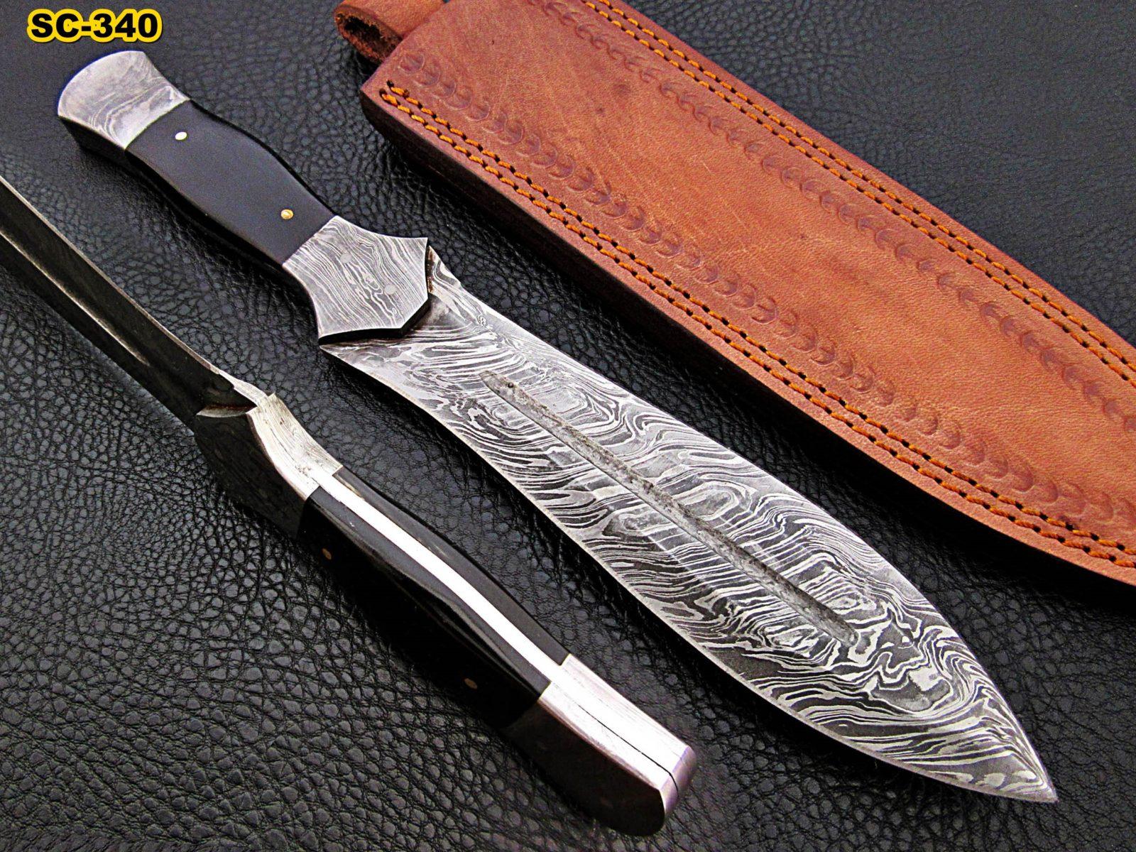 handmade buffalo horn dagger knife