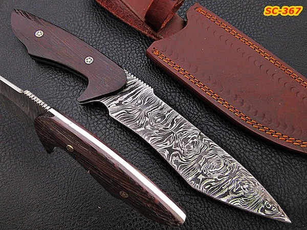 11″ hand forged Damascus steel knives