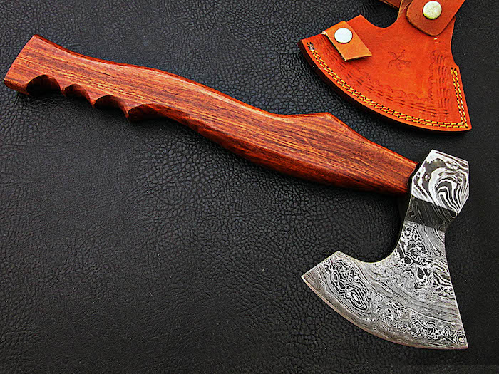 17″ Handmade Damascus steel AXE Rosewood