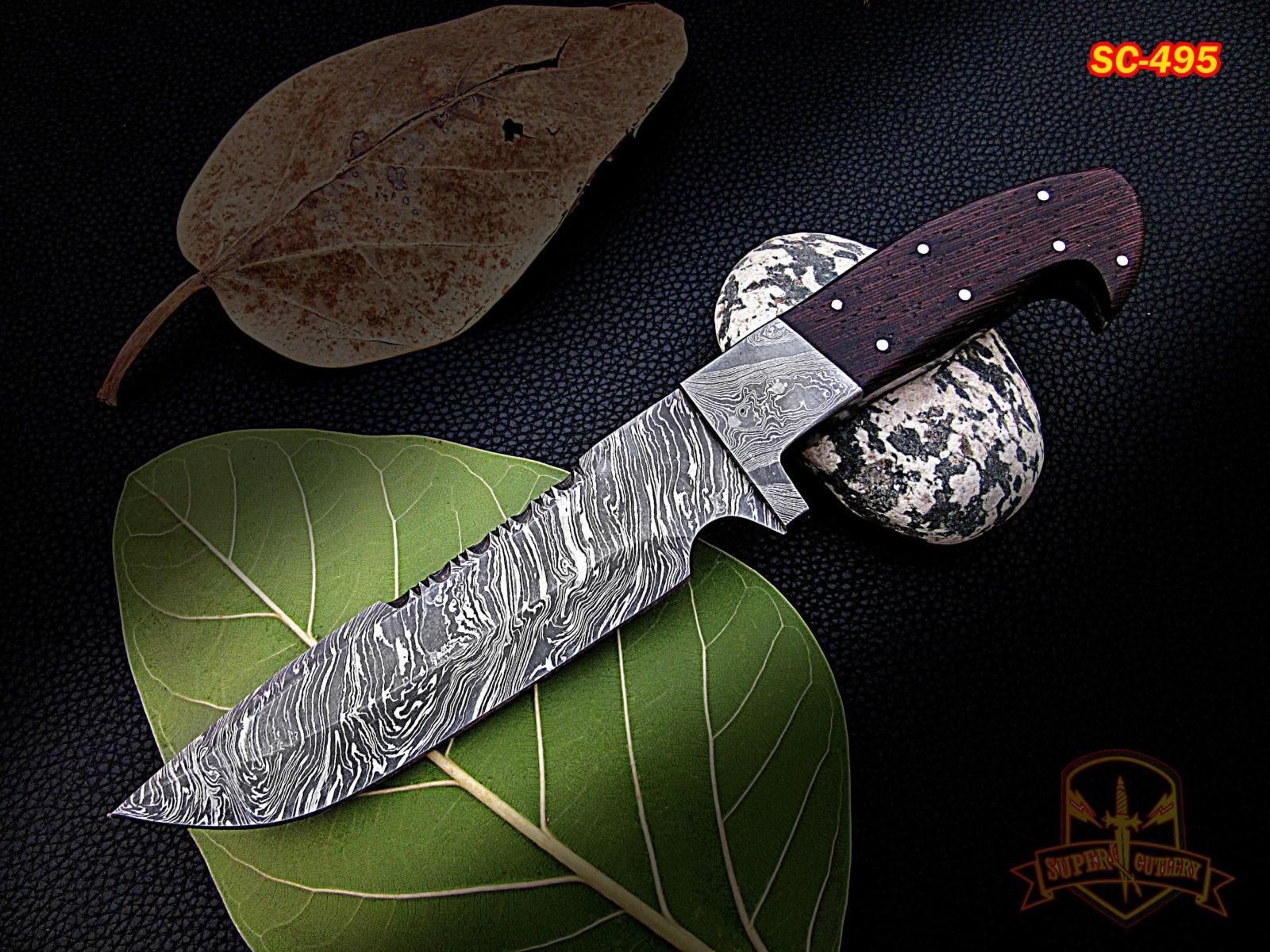 11″ Custom Full Tang Damascus steel Knife