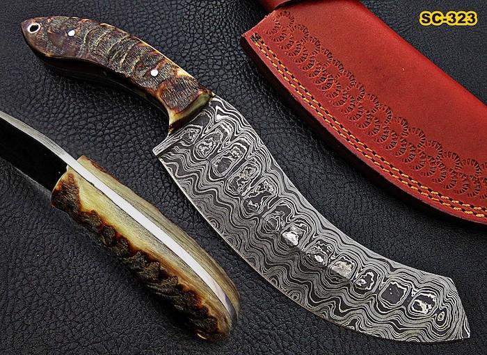 Damascus Steel Machete Knives