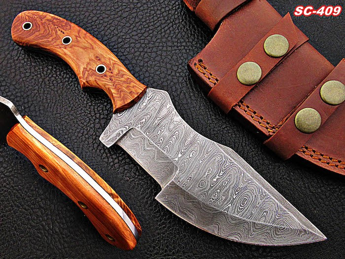 8 INCHES Damascus Knives OLIVE WOOD handle
