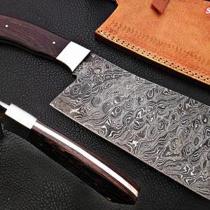Damascus steel Cleaver Vangee wood handle