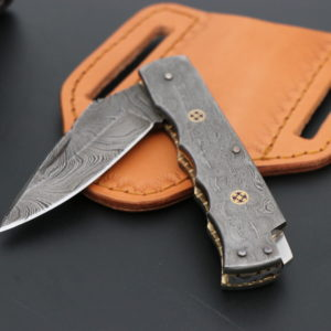 Full Damascus Steel folding knife