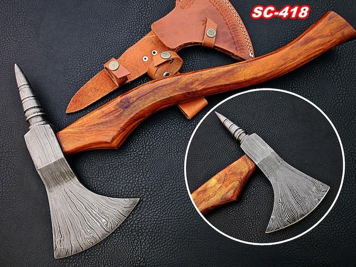 Damascus steel axe