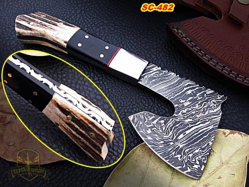 Full tang Damascus steel axe