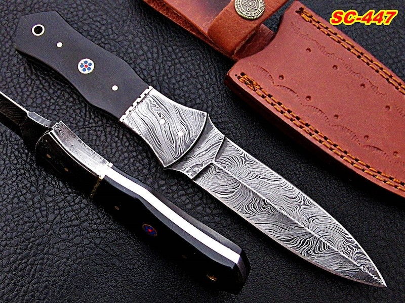 10″ Handmade Damascus steel Knife Buffalo horn