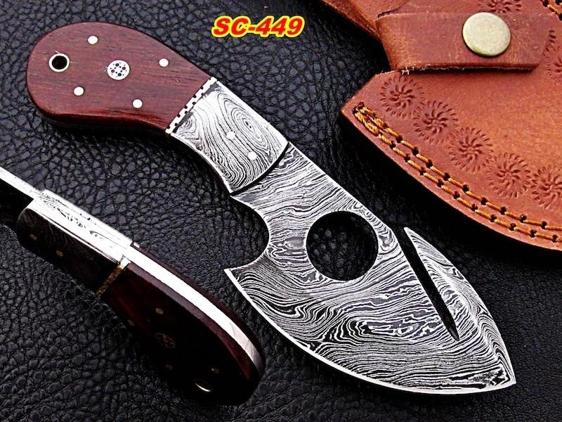 8″ Damascus steel skinner