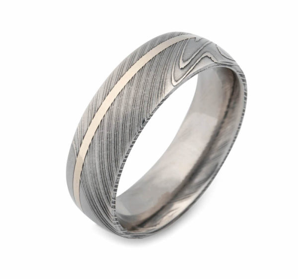 Damascus Steel ring for mens