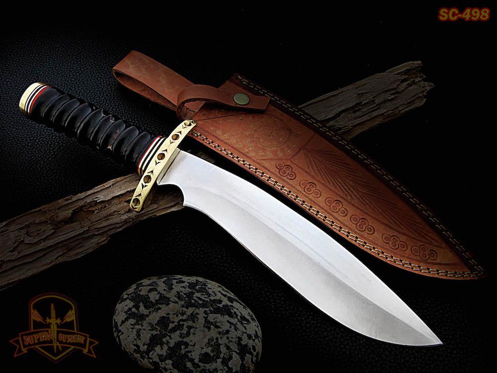 14″ Handmade D2 steel Knife Bull horn