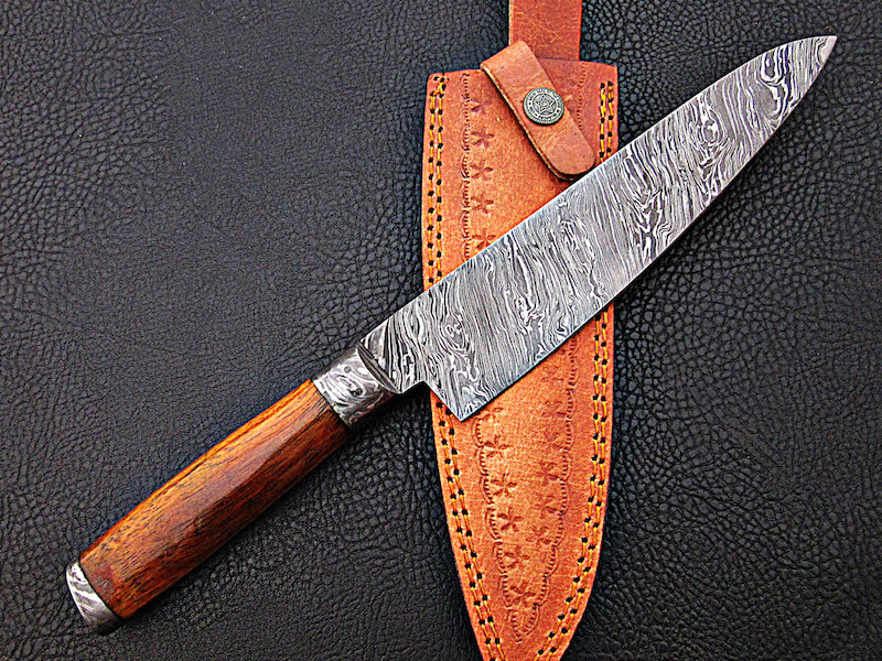 13″ hand forged Damascus chef knife