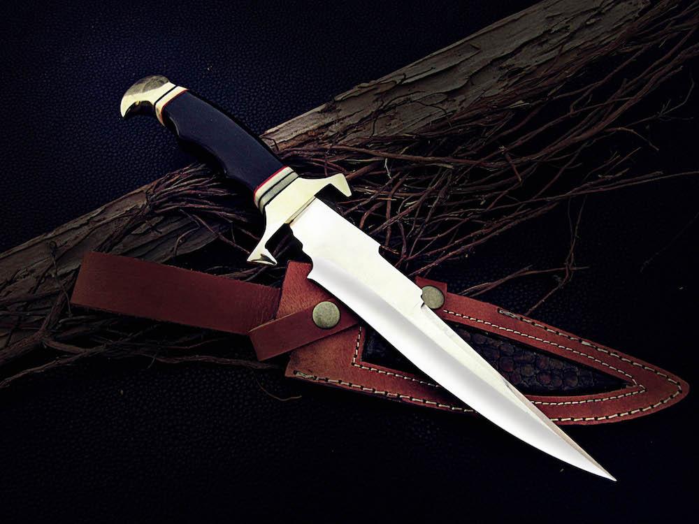 D2 steel Bowie knife buffalo horn