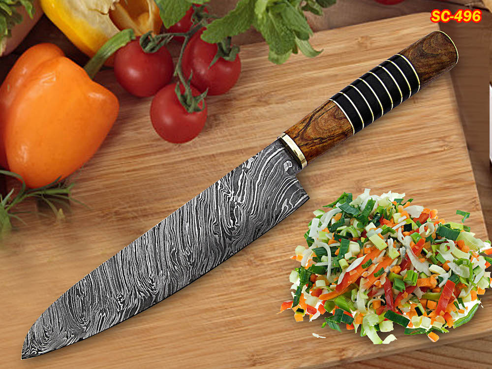 handmade Damascus chef knife