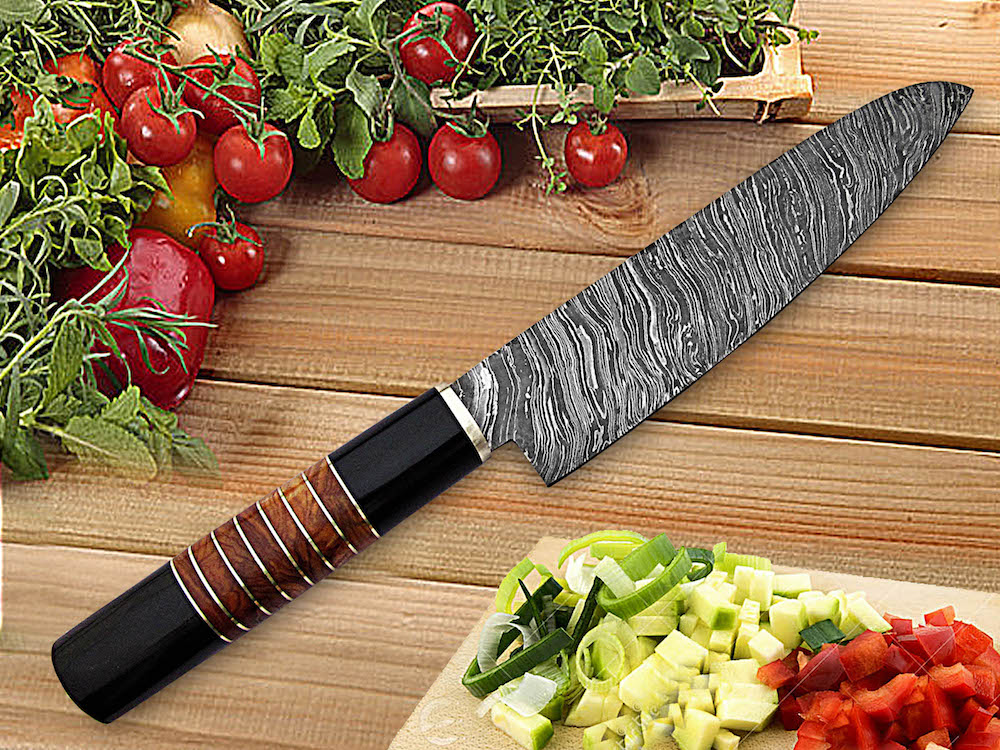 13 inches Damascus steel chef knife