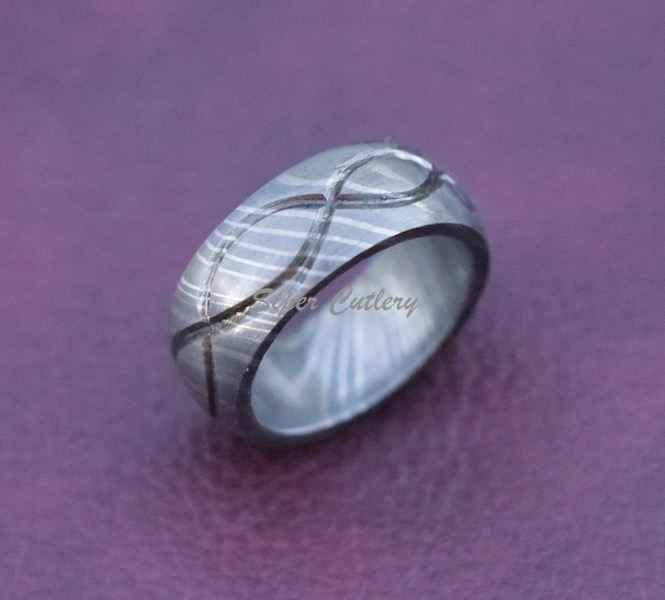 Damascus Infiity men wedding bands