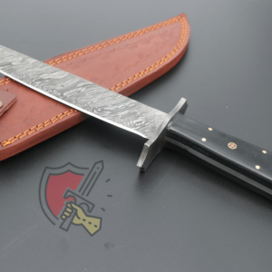 Custom Black Damascus Steel Bowie knife