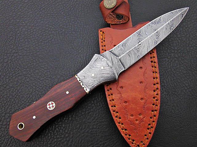 10″ Handmade D2 steel skinner dagger Rosewood handle