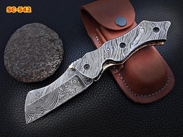 Custom Handmade Full Damascus steel Folding Knife