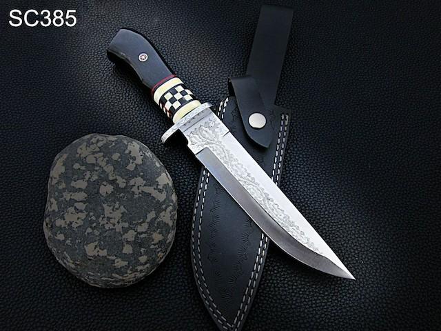 Handmade D2 Steel Bowie knife Bull Horn Bone