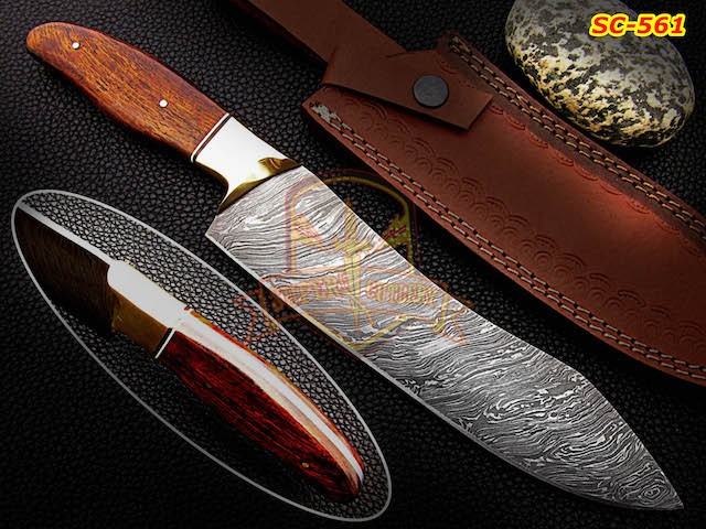 Damascus teel chef knives