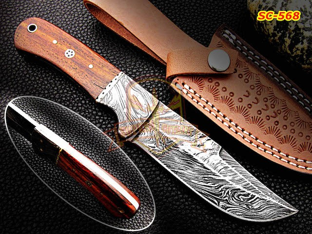 Custom Forged Damascus Bowie Knife