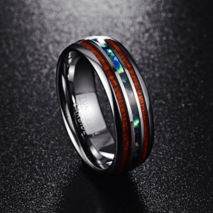 Men's Wood Jewelry Wedding Bands 8MM