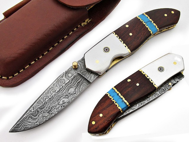 Hand Forged Folding Knife stainless steel Bolster