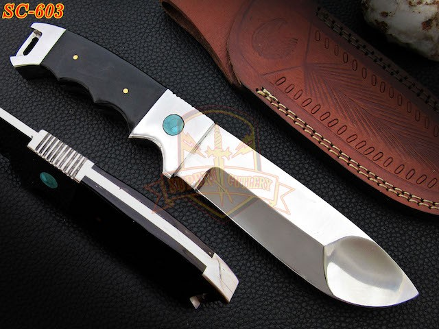 Turquoise D2 steel Hunting knives