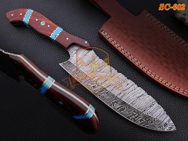 Damascus steel chef knife