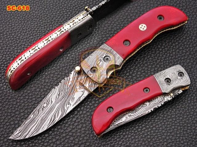 Handmade Full Damascus Folding knives