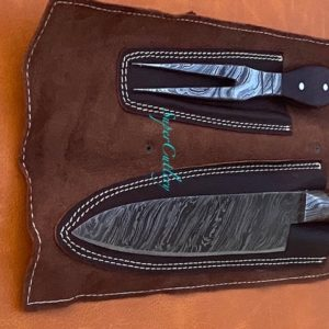 Hand Forged Damascus Steel 3 PC Chef Set