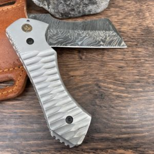 Damascus powder coated knife