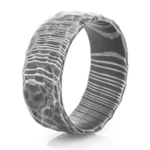 Damascus Steel band 10 wide