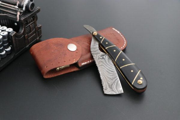 Damascus Steel Shaver knife