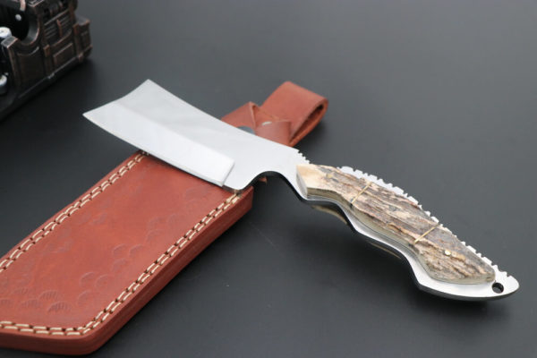 D2 Steel Knife Stag horn Fixed Blade