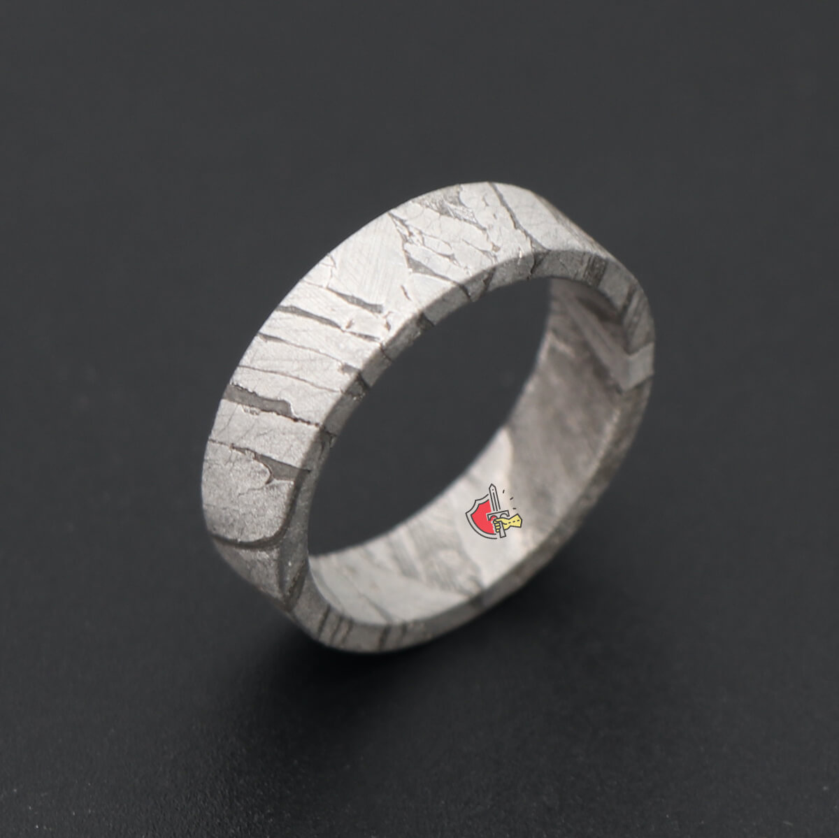 It is just a picture of Clade Mens Full Meteorite wedding Ring Wedding Engagement band